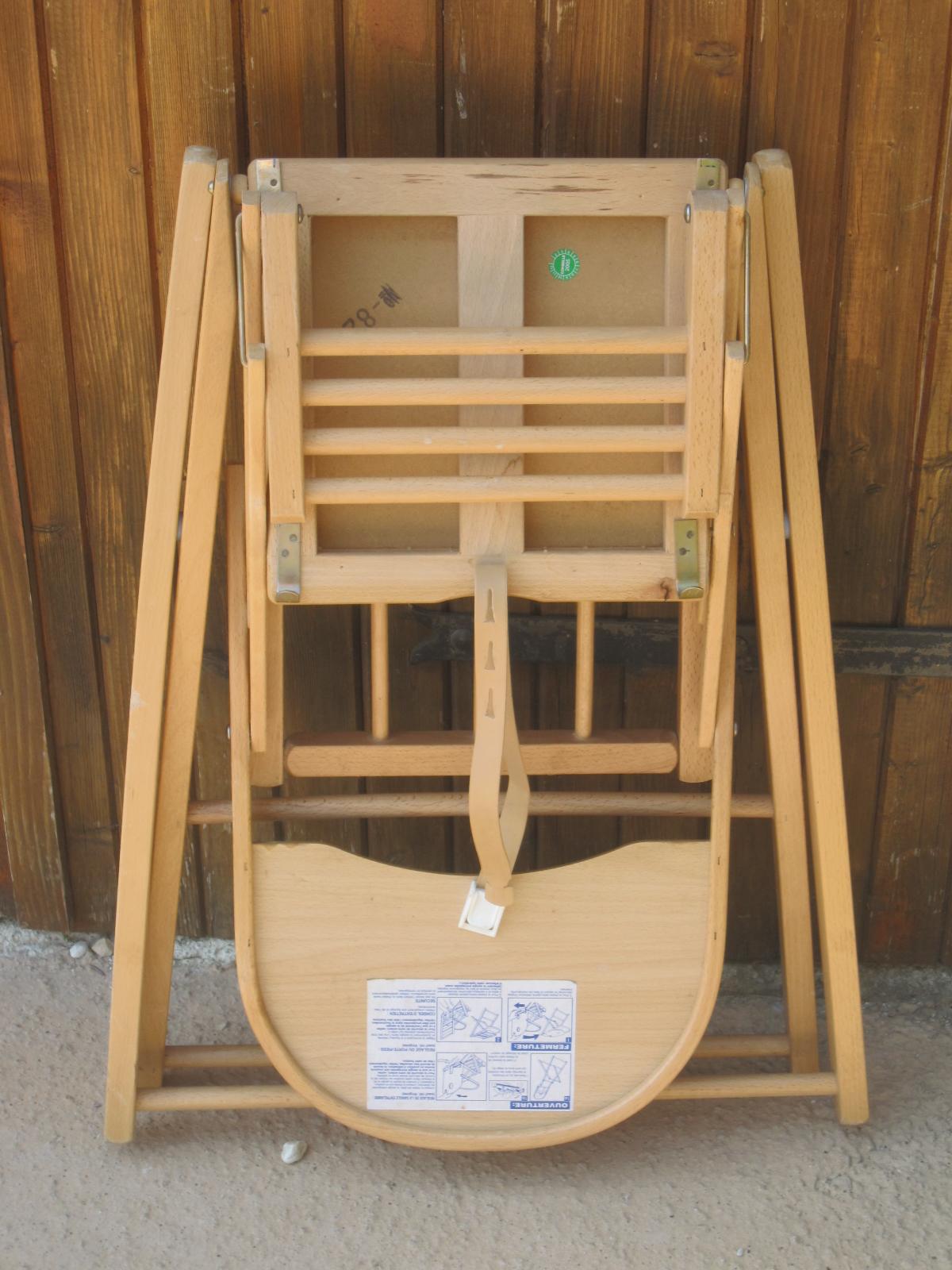 chaise haute en bois combelle pliante aukazoo