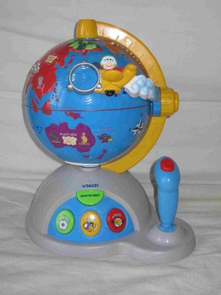 globe terrestre parlant vtech aukazoo
